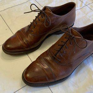 Cole Haan Brown Leather Cap Toe Oxford - Size 7
